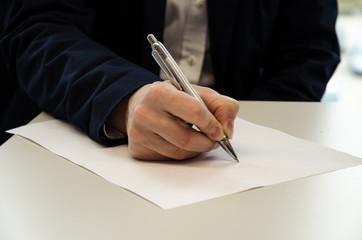 filling a questionnaire