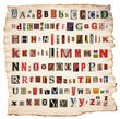 Colorful alphabet letters made of newspaper, magazine