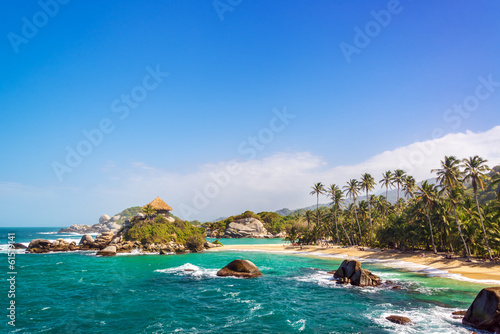 Keuken foto achterwand Zuid-Amerika land Beautiful Tayrona Beach