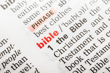 Bible Word Definition In Dictionary Close Up