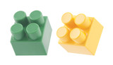 Plastic building blocks with clipping path