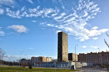 Madrid, Ensanche de Vallecas, torre negra, urbanismo