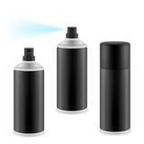 Black spray cans