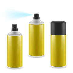Golden spray cans