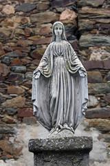 Virgen en pedestal, Calzadilla de Coria, Cáceres, España