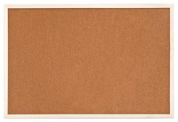 empty bulletin cork board in white frame