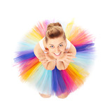 Colourful ballerina