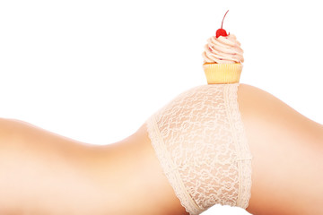 Body and cupcake