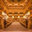 Leinwanddruck Bild - Treppenhaus in der Oper