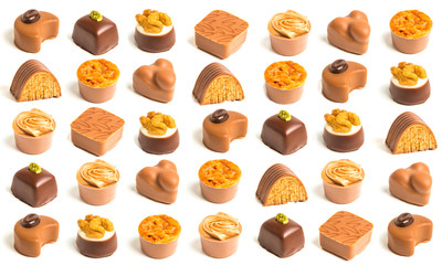 Variety of decorated chocolates