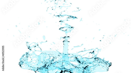 splash of water in extreme slow motion, alpha included (FULL HD)