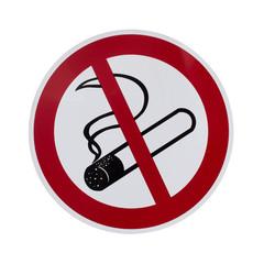 Rauchverbotsschild freigestellt