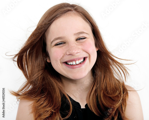 canvas print picture beautiful girl portrait