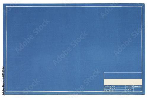 Leinwanddruck Bild Empty Blueprint