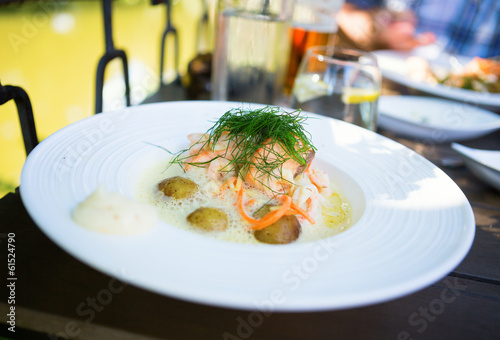 Delicious salmon with potatoes
