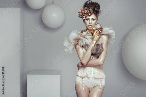 Glamour style photo of alluring lady
