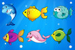 Six different fishes under the sea
