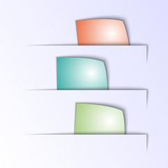 Vector paper multicolor tabs