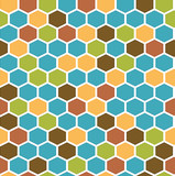 The retro hexagon background