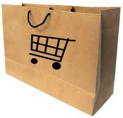 sac en papier kraft recyclable pour les courses