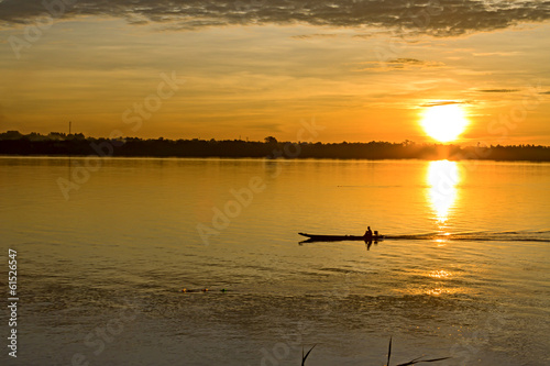 Morning on Mekong Rive
