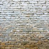 Whitewash old stone wall