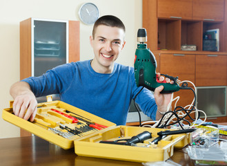 guy  with working tools