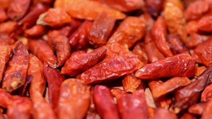 Dried Chillis Background Video (seamless loopable)