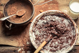 Cocoa as a component of homemade chocolate
