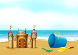 A castle at the beach