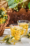 Tea with lime and honey