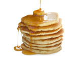 Stack of Pancakes isolated on white