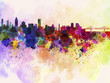 Quadro Montreal skyline in watercolor background