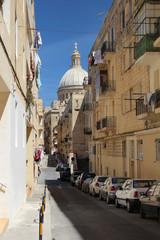 Old streets in Valletta, Malta