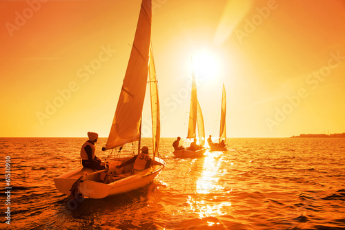 canvas print picture sailing Regatta
