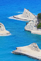 View of a bay Peroulades. Corfu. Greece.