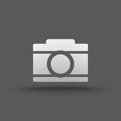 Vector of transparent camera icon on isolated background