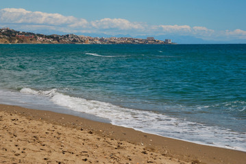 Beach in Fuengirola, Andalusia
