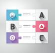 Modern Design jigsaw style infographic template vector