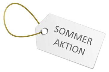 Schild Sommeraktion