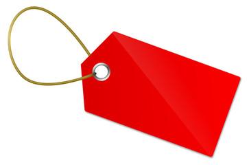 Anhänger Schild rot leer