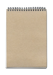 Vintage spiral close notebook