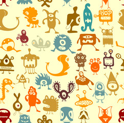 Monsters pattern