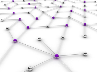 Abstract conception of network and communication,