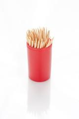 Tub of toothpicks