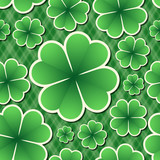 Clover Seamless Pattern. Vector background