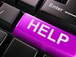 Computer keyboard with help key