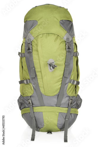 65 litre rucksack, isolated