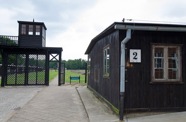 Symbolic entry gate to concentration camp Stutthof