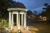 Gazebo in park at night